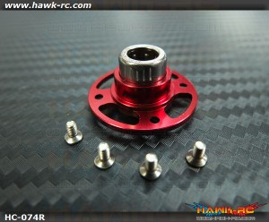 Hawk Creation 450 Series Main Gear Oneway Bearing Hub (Red, Light Weight)